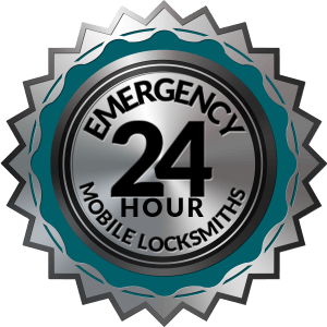 24 Hour Mobile Emergency Locksmith Badge