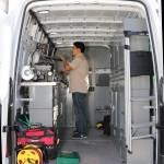 Inside a Ventura Mobile 24 Hour Locksmith Van