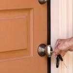Unlocking door with keys
