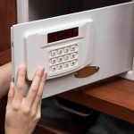 Woman Hand Opened A Safe, Close Up , Open